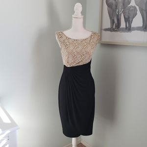 Lace and black dress